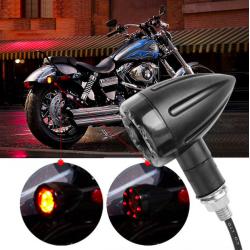 LED motorcycle brake & turn signal lights indicators 2 pcs