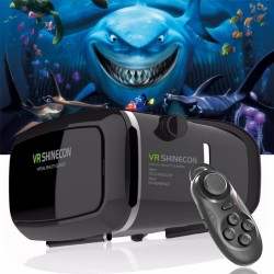 Shinecon Pro Version VR virtual reality 3D glasses + smart gamepad