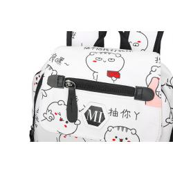 USB charging school backpack canvas 3 pcs set