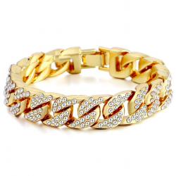 Gold / Silber Armband mit Zirkonias - Unisex
