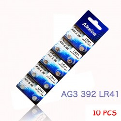 AG3 LR41 192 L736 392 SR736 V36A button cell li-ion batteries 10 pcs