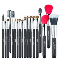 Natural hair professional makeup brush set 18 pcs