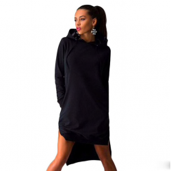 Women's hoody dress hooded sweatshirt pullover