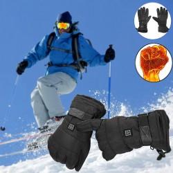 Winter waterproof battery heated gloves