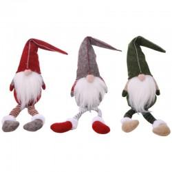 Kerstversiering lange benen zittend elf 50cm