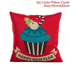 Christmas pillowcase cushion cover linen 45 * 45 cm