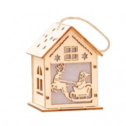 Wooden Christmas house with LED