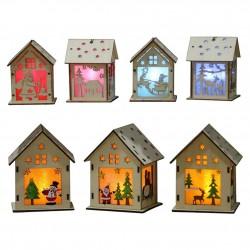 Houten kersthuis met LED - Doe Het Zelf