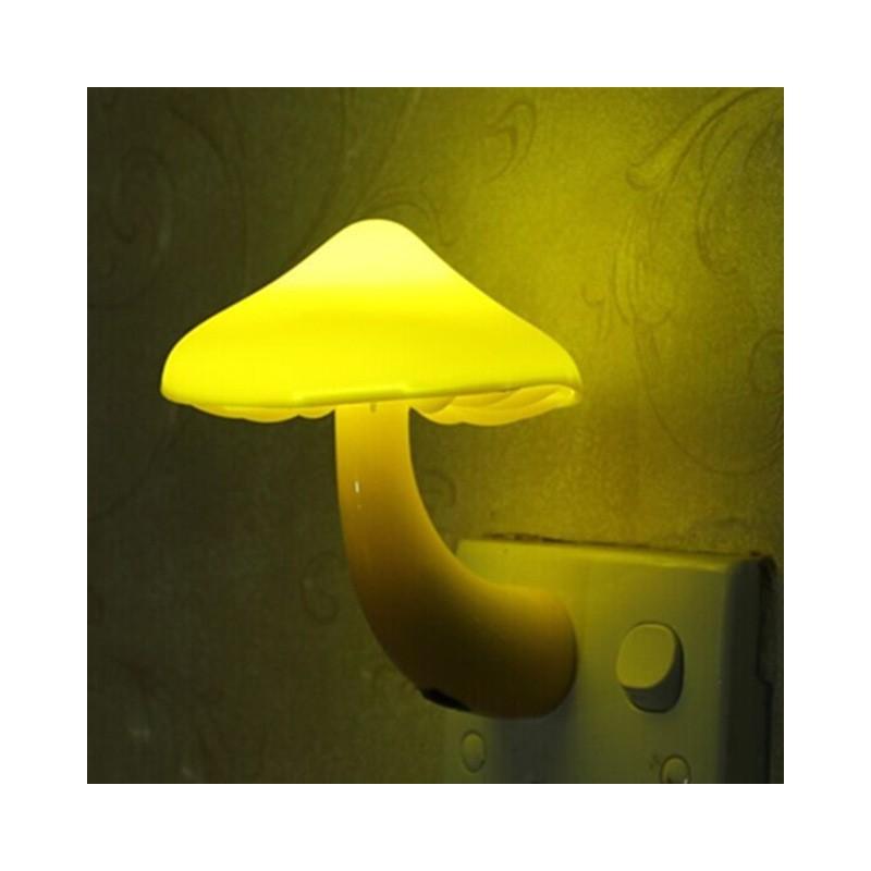 Mushroom LED wall socket lamp night light