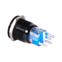 19mm 12V LED car waterproof self-locking latch push button switch