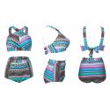 Plus size high waist swimsuit bikini set