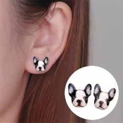 French Bulldog stud earrings