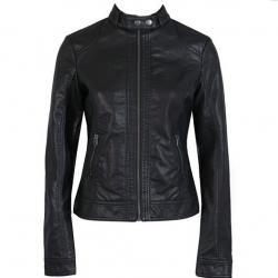 Women's slim leather jacket