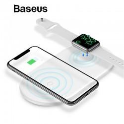 2 in 1 - Baseus 10W Schnelles kabelloses Ladegerät für iPhone X - XS Max - XR Apple Watch 4/3/2 - Samsung S8 / S9