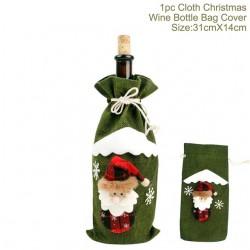 Christmas bottle wine cover cloth & linen