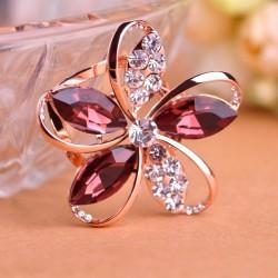 Kristal bloem broche