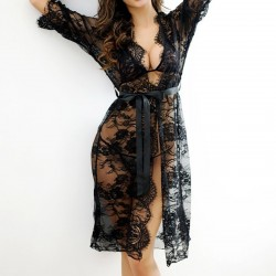 Full lace transparent nightgown