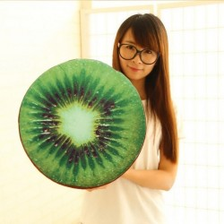 3D double-sided fruit print round cushion 40 cm