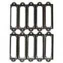 Antique brass furniture metal handle frame label holder 10 pcs