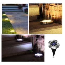 8 LED begraven in-grond solar lamp met sensor waterdicht