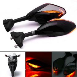 LED motorfiets richtingaanwijzer spiegels voor Yamaha Yzf Fzr 600 1000 R1 R6 FZ1 FZ6