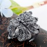 Crystal flower & butterfly - vintage hair clip