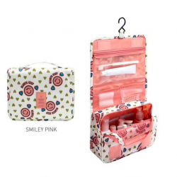 Hanging travel cosmetic make up organiser