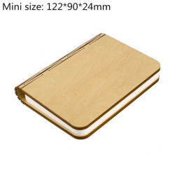 Portable LED USB rechargeable magnetic foldable wooden book lamp night light
