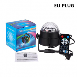 RGB LED 3W disco ball with sound activation - laser projector - stage light