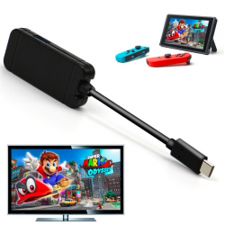 Nintendo Switch USB type C adapter charging dock USB 3.0 HD TV HDMI converter cable transfer