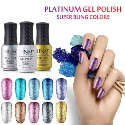 LED UV glitter nail gel polish 8ml