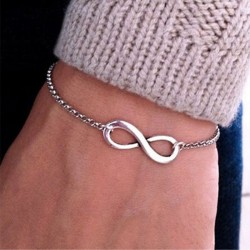 Infinity shape men's bracelet