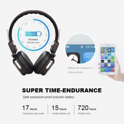 Bluetooth foldable headphones wireless stereo headset with microphone