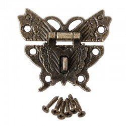 Butterfly antique bronze hasp latch cabinet furniture handle