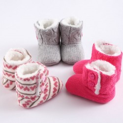 Newborn warm shoes knitted boots