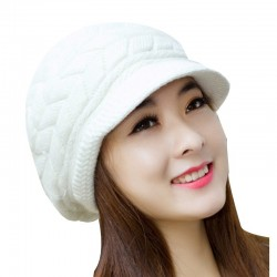 Knitted winter wool hat - cap