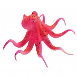 Aquarium fish tank fluorescent artificial octopus with suction cup