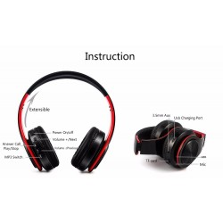 Tourya B7 Bluetooth wireless foldable headphones adjustable headset with microphone