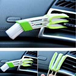 Car vent double sided cleaning brush
