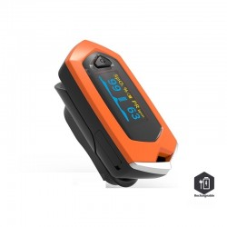 Finger pulse oximeter blood heart rate monitor rechargeable