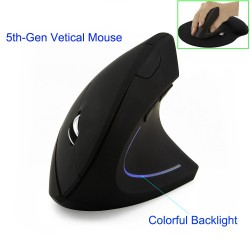 2.4G 800/1200/1600DPI wireless ergonomic optical vertical mouse & pad kit