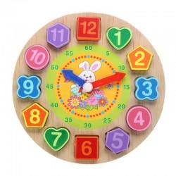 Houten puzzelklok met 12 cijfers speelgoed
