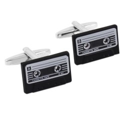 Retro cassette tape cufflinks