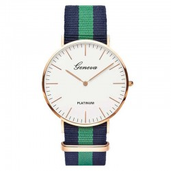 Fashion quartz watch with nylon band unisex