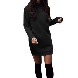 Warm mini dress with long sleeve