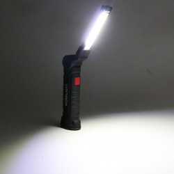 COB LED torch - USB rechargeable - with hanging hook
