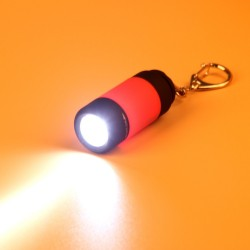 Mini 0.3W USB LED light torch with keychain