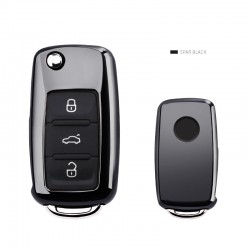 Car key cover case for Volkswagen VW Passat Golf Jetta Bora Polo Sagitar Tiguan with keychain