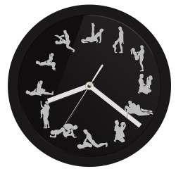 LED neon wall clock with sex positions