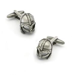 Warrior helmet cufflinks